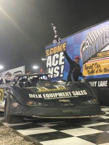 Mike Marlar wins on Night #2 of the Lucas Oil Knoxville Late Model Nationals presented by Casey's General Stores (Knoxville Raceway Photo)