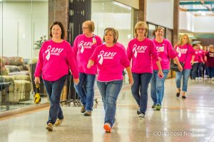 Nearly 100 people pre-registered to take part in the annual Breast Cancer Awareness Walk hosted by Mahaska Health Partnership.