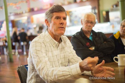 Fred Hubbell, Democrat running for Iowa governor in 2018, stopped by Oskaloosa on Saturday morning.