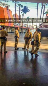 Police presence in Las Vegas was heavy after the massacre of October 1st. (submitted photo)
