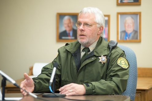 Mahaska County Sheriff Russ Van Renterghem discusses his plan to use reserve deputies to the Mahaska County Board of Supervisors.