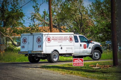 This Salvation Army truck looks for victims of Hurricane Harvey in Rockport Texas, September 2017.