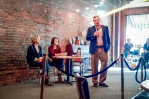 MCDG's Tom Flaherty speaks about housing in Oskaloosa during Saturday's Eggs and Issues.