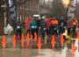 Participants braved the cold and wet conditions for the 2nd Annual Pot Of Gold Marathon and 5K Fun Run on March 24, 2018.