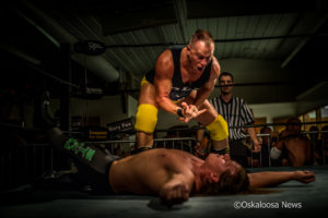 Rory Fox taunts Tony Storm after a mid-ring brawl. This confrontation lead to Storm challenging and ultimately defeating Fox.