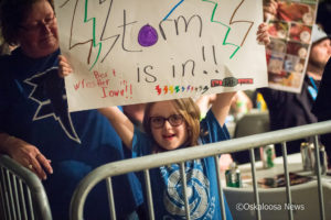 A young wrestling fan is excited to see Tony Storm head to the ring to take on Rory Fox.