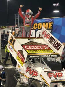Brian Brown won for the second time in two weeks at Knoxville Saturday (Knoxville Raceway Photo)