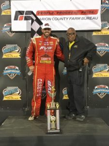 Brian Brown picked up the $5,000 Mid-Season Championship Saturday at Knoxville (Knoxville Raceway Photo)