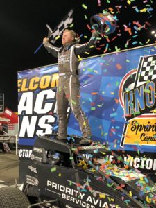 """Sunshine"" Tyler Courtney Swept the night with USAC Saturday at Knoxville (Knoxville Raceway Photo)"