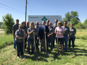 Farm Credit Services of America (FCSAmerica) broke ground June 1, 2018, on a retail office in Oskaloosa. The financial cooperative will relocate its current office in Ottumwa to Oskaloosa after construction is complete, likely in the fall of 2019. (submitted photo)