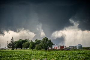 The EF-3 tornado that struck Vermeer on Thursday afternoon. (photo by Ken Allsup/Oskaloosa News)