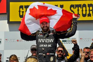 James Hinchcliffe's Casey's General Store's Victory Lane celebration (Photo Credit: Jennifer Coleman Photography)