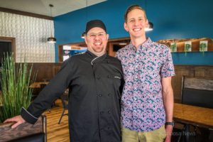 Michael Glesener (left) and Matthew Gunn (right) are the team behind Wood Iron Grille.
