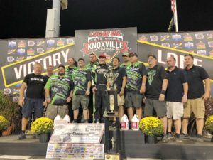 Jimmy Owens won the $40,000 Knoxville Late Model Nationals Saturday (Knoxville Raceway Photo)