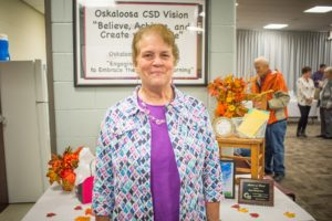 Vicky Wyngarden retired after 46 years of service to the Oskaloosa School District.