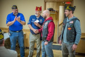 The Oskaloosa Freedom Riders made a donation to the American Legion Legacy Scholarship Fund.