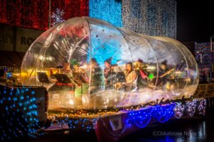 The William Penn Band's 'Snow Globe' float got a lot of attention on Thursday evening during the annual Lighted Christmas Parade.