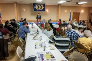 Approximately 75 people took part in the 100th Anniversary program of the American Legion.