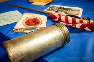 A time capsule from the late 1940's was opened on Friday night. Inside the capsule was a scroll with legion member names, a 48 star American Flag, a used pack of Lucky Strike cigarettes, photos, post cards and newspaper clippings.