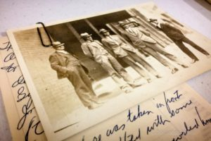 Scrapbooks made by the Oskaloosa American Legion over time were on display, and people could see a glimpse into the Posts past.