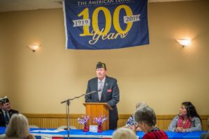 Past National Commander for the American Legion, David Rehbein, was the keynote speaker at the 100th Anniversary celebration held at the Oskaloosa American Legion on Friday evening.