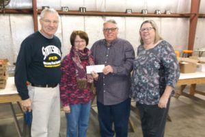 The Oskaloosa Elks Lodge No. 340 recently donated $3,500 to the Oskaloosa Take Along Meals program to help pay for food needed to send weekend meals home with students at Oskaloosa Elementary School, Oskaloosa Middle School and Eddyville Elementary School.