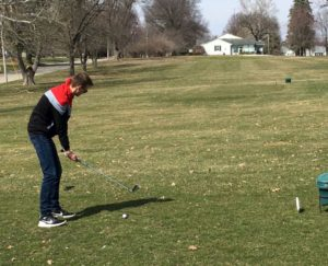 Andrew Brouwer was among the first to golf for the 2019 season at Oskaloosa Public Golf. The official opening day for the season was Monday, April 1st with League Play scheduled to start in May.  The warmer days this month brought several golfers to the course, single, group, and families!  A great start for the golf season! With warmer days ahead, we look forward to seeing you at Oskaloosa Public Golf, come PAR-TEE with us!
